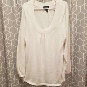 White Scoop-neck Sweater - 3x